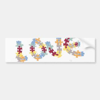 love puzzle bumper sticker