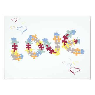 love puzzle card