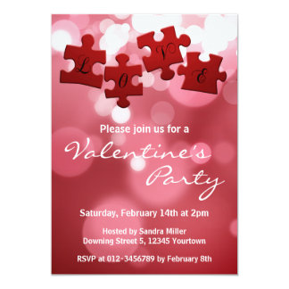 Love Puzzle - Valentines Party Invitation