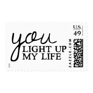 Love Quote Black And White Typography Wedding Postage