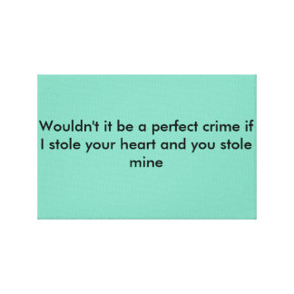 Love quote for couples canvas print