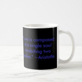 """Love Quote Mug"" Classic White Coffee Mug"