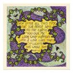 Love Quote Square Greetings Card, Blank Custom Invitation