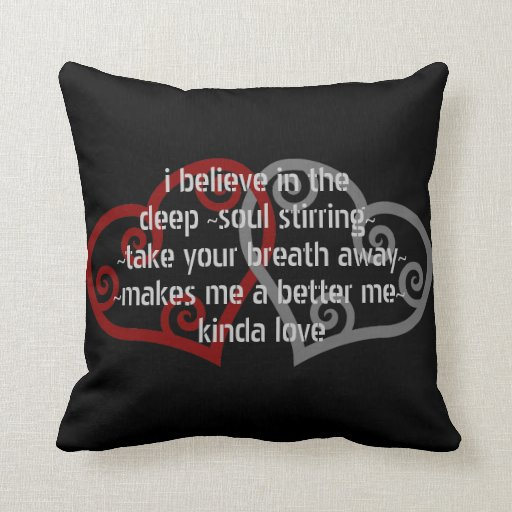 Throw Pillow Love : Love Quote Throw Pillow Zazzle