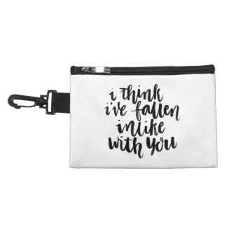 Love Quotes: I Think Ive Fallen Inlike With You Accessory Bags