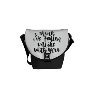 Love Quotes: I Think I've Fallen Inlike With You Courier Bag