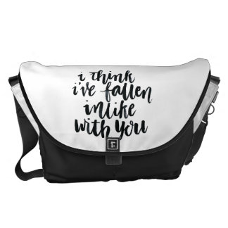 Love Quotes: I Think I've Fallen Inlike With You Messenger Bag