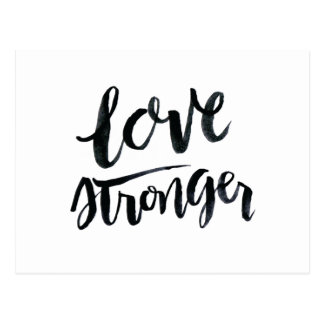 Love Quotes: Love Stronger Postcard