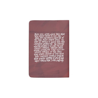 Love Quotes: There Were Signs Passport Holder