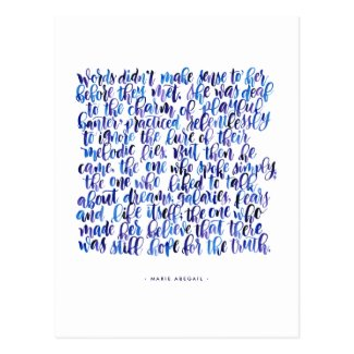Love Quotes: Words Didn't Make Sense Postcard