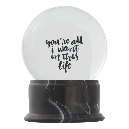 Love Quotes Youre All I Want In This Life Snow Globe