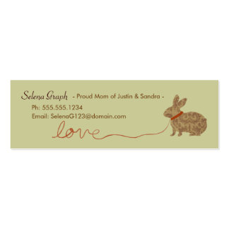 Love Rabbit Proud Mom Contact Skinny Card