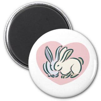 Love Rabbits Refrigerator Magnet