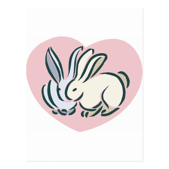 Love Rabbits Postcard