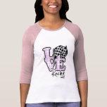 Love Racing; Checkered Flag T Shirts
