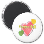 Love Racquetball 2 Inch Round Magnet