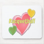 Love Racquetball Mouse Pad