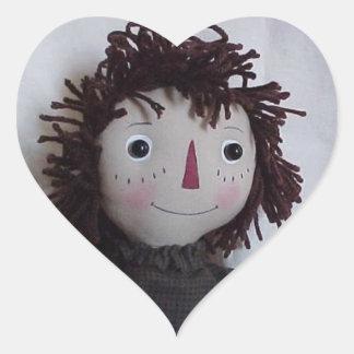 Love Rag Dolls Heart Sticker