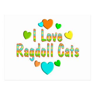 Love Ragdoll Cats Postcards