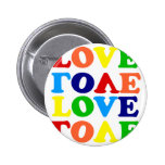 Love Rainbow Alphabet Soup Valentine Button