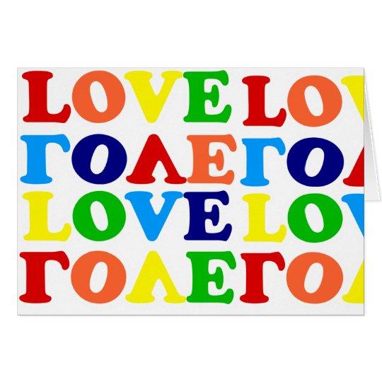 Love Rainbow Alphabet Soup Valentine Card