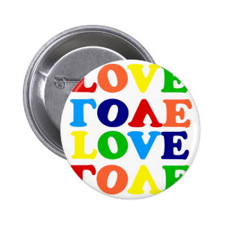 Love Rainbow Alphabet Soup Valentine Pinback Button