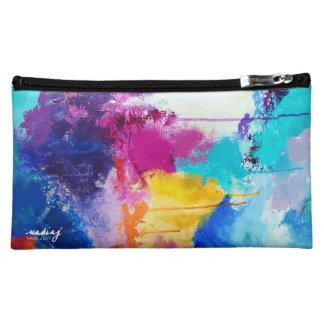 Love Rainbow Colors Bagette Cosmetics Bags