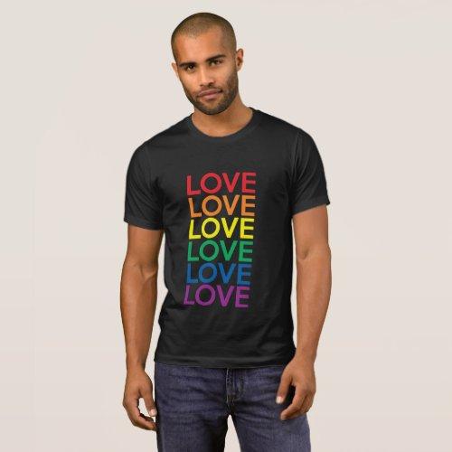 LOVE RAINBOW EQUALITY LGBTQI GAY LESBIAN PRIDE T-Shirt