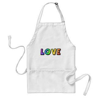 Love Rainbow Gay Lesbian Pride Adult Apron