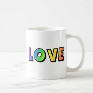 Love Rainbow Gay Lesbian Pride Coffee Mug