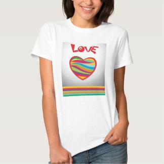 Love Rainbow Hearts Design T-Shirt