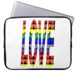 Love Rainbow Hearts Laptop Sleeves