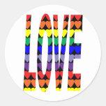Love Rainbow Hearts Sticker