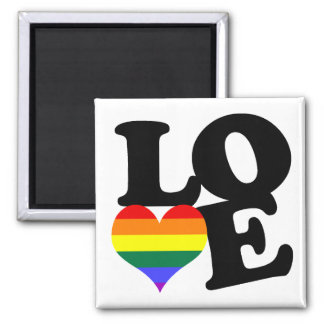 Love Rainbow Pride 2 Inch Square Magnet