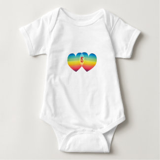 Love Rainbow Pride Equality Is Hearts LGB Baby Bodysuit