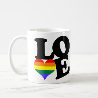 Love Rainbow Pride Mugs