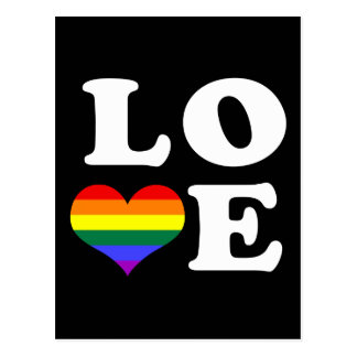 Love Rainbow Pride Post Cards