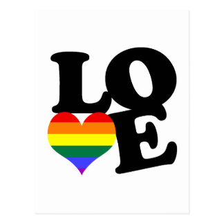 Love Rainbow Pride Postcard