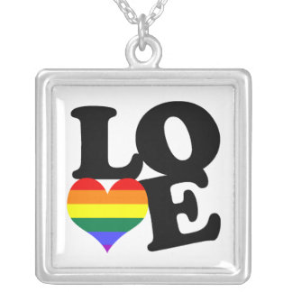 Love Rainbow Pride Silver Plated Necklace