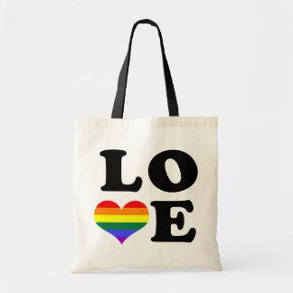Love Rainbow Pride Tote Bag