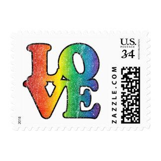 Love Rainbow Stamps