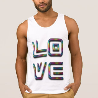 Love Rainbow Typography Text Only Tank Top