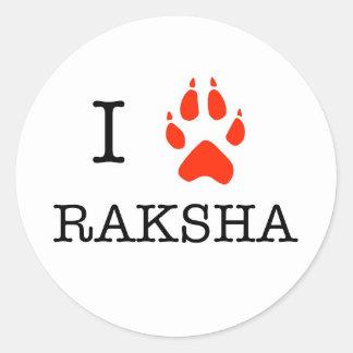 love raksha classic round sticker