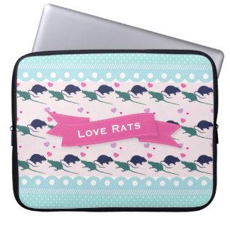 Love Rats Polka Dot Laptop Sleeve