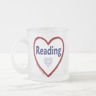 Love Reading Frosted Glass Coffee Mug