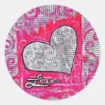 Love Recycled Round Sticker