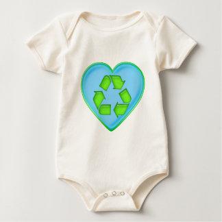 Love Recycling Ocean Heart Baby Bodysuit