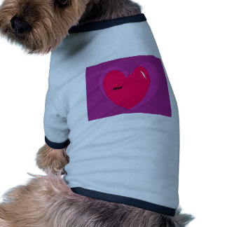 Love Red and Purple Valentines Heart Gifts Pet Tshirt