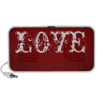Love Red and White Doodle Speakers