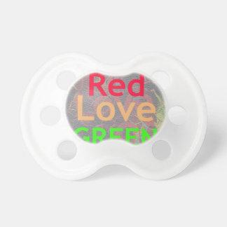 LOVE RED GOLDEN GREEN PACIFIER